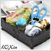 蝴蝶薔薇典雅雕花首飾盒 古典蝴蝶薔薇珠寶化妝品保養品收納盒【SK1725】Loxin