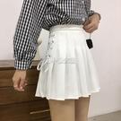 百褶裙女春夏2021年新款裙子百搭綁帶半身裙韓版學院風短裙a字裙 快速出貨