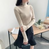 長袖毛衣 女裝新款韓版半高領套頭長袖毛衣短款修身百搭打底衫 俏女孩