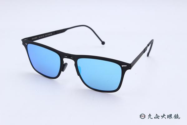 ROAV 偏光太陽眼鏡 Franklin - Mod.8001 ( 霧黑框/藍水銀 ) 薄鋼折疊墨鏡
