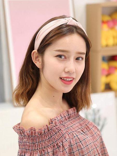髮帶 日韓版素色寬邊髮箍韓國女簡約洗臉頭箍髮帶髮夾打結髮卡髮飾品 曼慕衣櫃