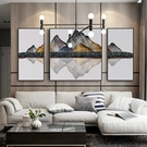 客廳裝飾畫沙發背景牆掛畫新中式辦公室三聯...