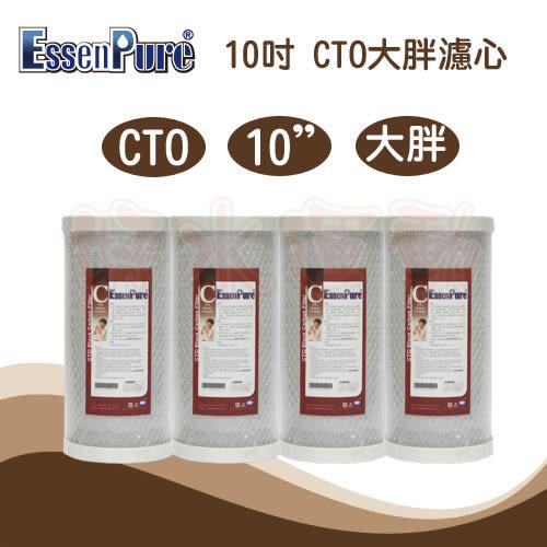水蘋果居家淨水~快速到貨~EssenPure高品質10英吋大胖 CTO 活性碳濾心(4支組)