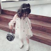 童裝甜美紗網兒童洋裝中小童氣質星星女童寶寶蓬蓬裙 安妮塔小舖