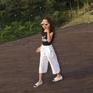 女童寬管褲2020夏季裝新款正韓七分褲寶寶薄款褲子中大兒童短褲