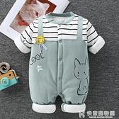 嬰兒衣服系列 嬰兒連身衣保暖純棉冬裝加厚男寶寶哈衣爬服夾棉衣新生兒衣服秋冬 快意購物網