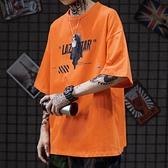 T恤 cec短袖男滑板高街個性印花寬鬆oversize喪系衣服潮牌嘻哈T恤【618優惠】