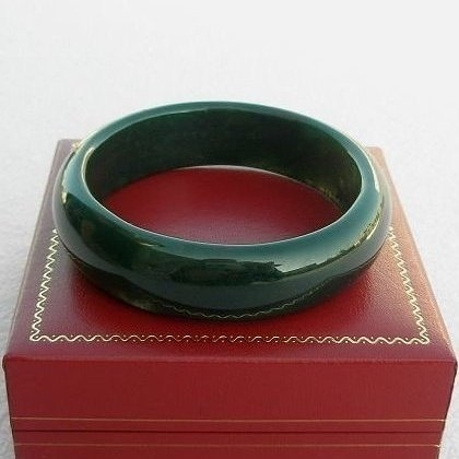【歡喜心珠寶】【天然海草玉手鐲】鐲圍18.3圍手環「附保証書」碧玉加強親和力之最佳寶石