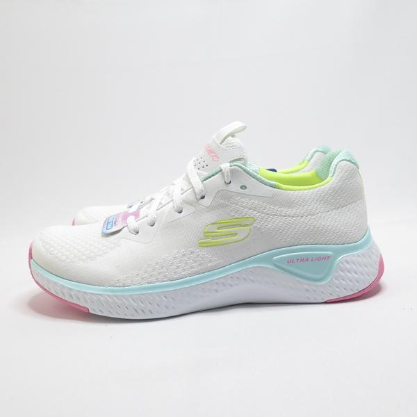 Skechers SOLAR FUSE - BRISK 休閒鞋 13328WMLT 女款 白黃【iSport愛運動】