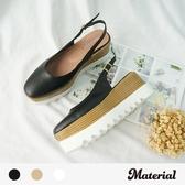 厚底鞋 後空小方頭厚底鞋 MA女鞋 T5277