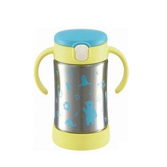 Richell TLI艾登熊 不鏽鋼吸管保溫杯(300ML)
