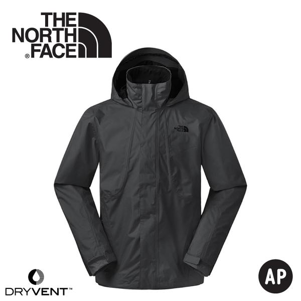 【The North Face 美國 男 DryVent 防水外套《黑》】3SPI/防水外套/防風外套/保暖外套/夾克