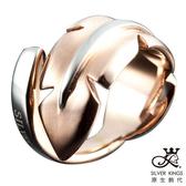 原生飾代SilverKings-流浪姿態 白鋼戒指-金