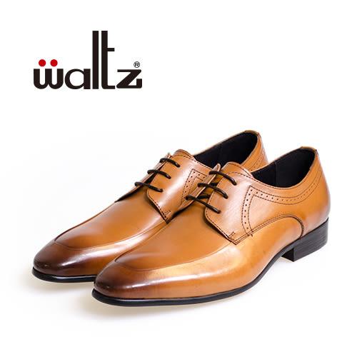 Waltz-簡約沖孔德比鞋212170-06(棕)