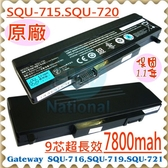 GATEWAY 電池(原廠)-捷威 電池- SQU-715,SQU-715P,SQU-716,SQU-719,SQU-720,SQU-721,W35044LB,ACER 電池