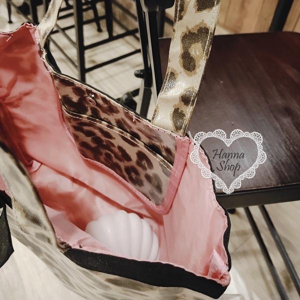 《花花創意会社》附錄。日雜豹紋蝴蝶結甜美御姐系防水側背包【H6765】