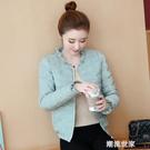 冬季韓版修身輕薄棉衣女短款羽絨棉服女士冬裝顯瘦時尚小棉襖外套『潮流世家』