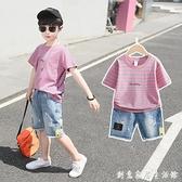 童裝男童夏裝套裝新款韓版中大童夏季洋氣男孩帥氣兒童短袖潮