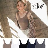 Queen Shop【01041470】U領合身背心 五色售*現+預*