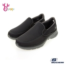 Skechers懶人鞋 男鞋 GOWALK 6 走路鞋 機能健走鞋 運動鞋 直接套 記憶鞋墊 V8295#藍色◆奧森