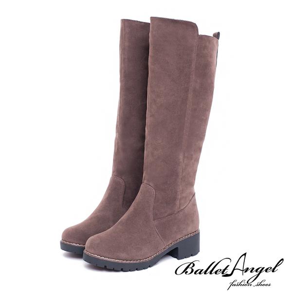 長靴 原色品味鉚釘點綴長筒靴(棕) *BalletAngel【18-1785br】【現貨】