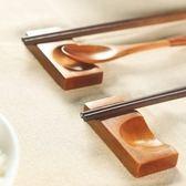 春季上新 家用筷子托筷枕廚房創意日式餐桌放筷子墊托架筷拖勺子餐具架木質