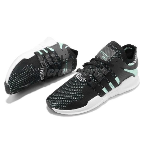 【三折特賣】adidas 復古慢跑鞋 EQT Equipment Support ADV PK W 黑 綠 襪套式 運動鞋 女鞋【PUMP306】BZ0008
