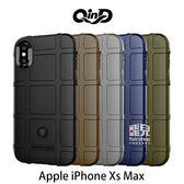 【妃凡】QinD Apple iPhone Xs Max 戰術護盾保護套 邊緣全包 減震抗摔 (K)