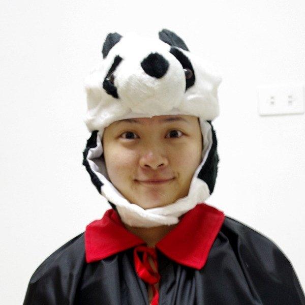 節慶王【W010022】貓熊動物帽,動物造型帽/魔術表演/園遊會/頭飾/慶生/尾牙/道具/派對用品