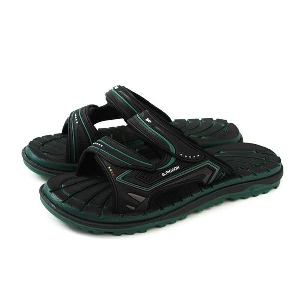 GP (Gold.Pigon) 阿亮代言 拖鞋 涼鞋 防水 雨天 黑色/墨綠 男鞋 G8546-60 no042