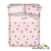 【Arnold Palmer雨傘牌】玫瑰濃情-60紗精梳純棉床包被套雙人四件組