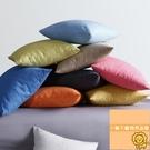 素色家用麻布大抱枕沙發靠墊加厚汽車靠枕【小獅子】