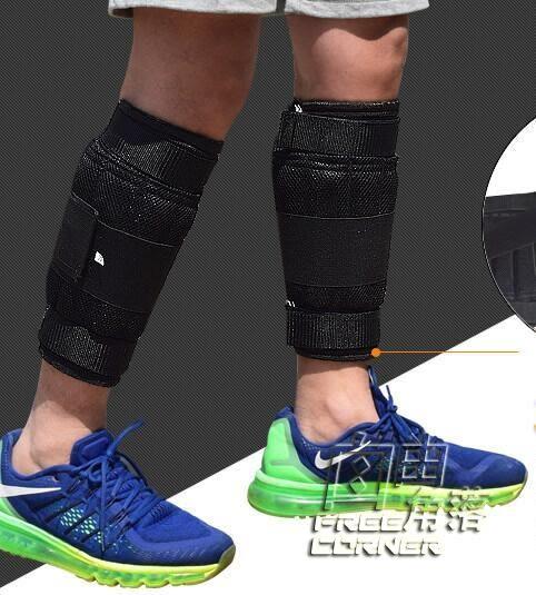 男負重跑步沙袋綁腿鉛塊鋼板可調節運動隱形沙包裝備負重綁腿綁手 自由角落