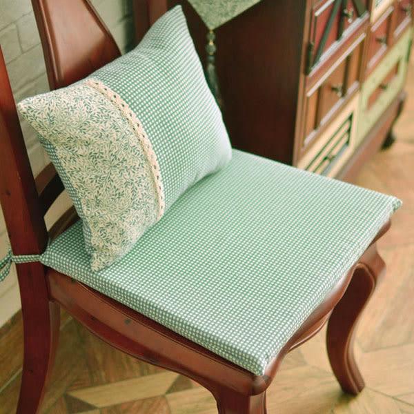 [超豐國際]美式鄉村灰綠色復古餐椅墊 坐墊海綿墊椅子墊凳子墊1入