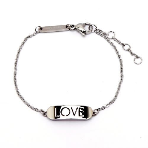 CK Calvin Klein 永恆LOVE手環-銀色(KJ7CMB000200)