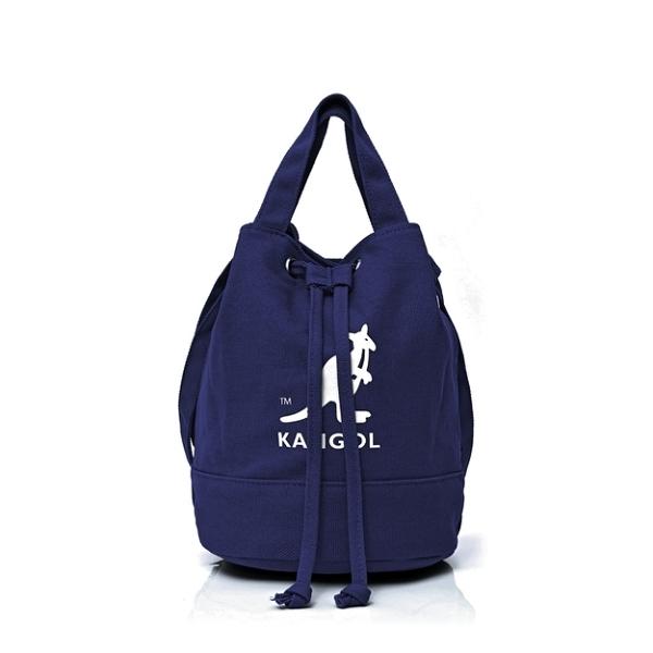 KANGOL ALICE CANVAS BUCKET BAG 帆布束口水桶包 深藍 6925300787