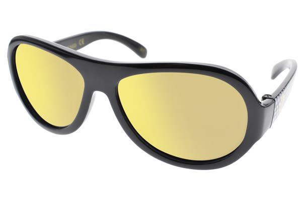 SHADEZ 兒童太陽眼鏡 SH15SHZ3 C49 (黑) 無毒可彎折設計黃水銀款 適合3-7歲 # 金橘眼鏡