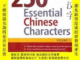 二手書博民逛書店250Essential罕見Chinese Characters