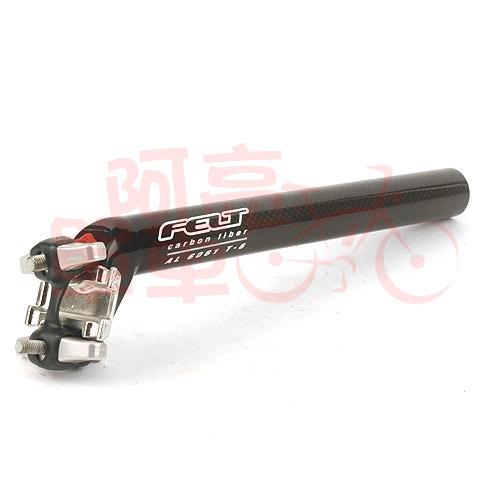 *阿亮單車* 特賣★FELT 碳纖維座管,直徑27.2,座管長23cm,水平式安裝《A73-410》