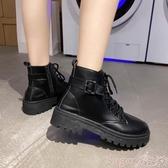 馬丁靴帥氣馬丁靴女英倫風2020新款百搭機車網紅瘦瘦潮ins小短靴夏季酷 suger