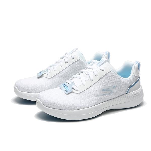 SKECHERS 健走鞋 GO WALK STABILITY 全白 水藍 固特異 慢跑鞋 女(布魯克林) 124605WLB