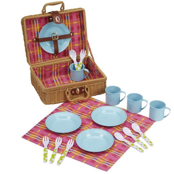 野餐籃茶具組