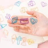 可愛創意迴紋針 ,花束卡片固定,10個一組,顏色隨機