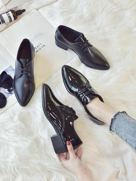 牛津鞋 英倫風ins小皮鞋女學生2021春季新款韓版百搭ulzzang單鞋粗跟女鞋 薇薇