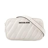 【MICHAEL KORS】素面皮革縫線Logo腰包(迷你)(白色) 35F0SXON1U OPWHI