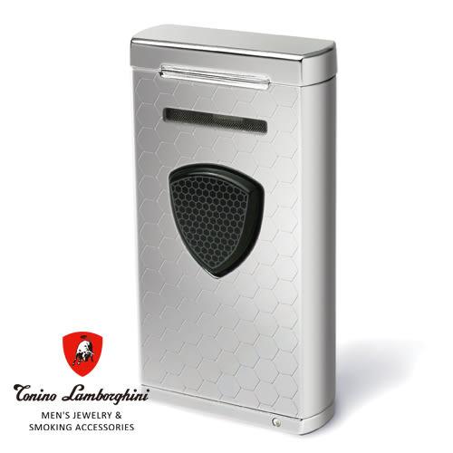 義大利 藍寶堅尼精品 - 附雪茄圓剪PERGUSA LIGHTER 打火機(蜂窩鐳雕) ★ Tonino Lamborghini 原廠進口 ★