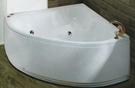 【麗室衛浴】國產 壓克力造型浴缸 H-320 壓克力扇形造型缸 含前牆 142*142*53CM
