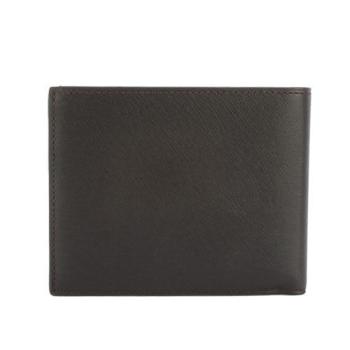 dunhill Sidecar皮革六卡證件短夾(深棕色)257231