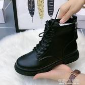 馬丁靴女英倫風年新款冬季加絨秋季潮ins瘦瘦春秋單靴短靴子 雙十一全館免運