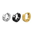 316L醫療鋼 小款平素面 耳環耳圈扣-...